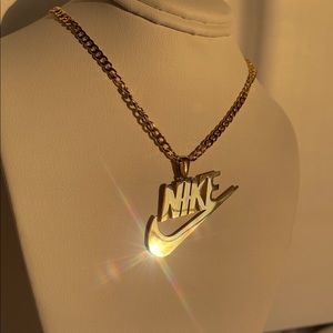 Waterproof Nike Necklace Gold Swoosh
